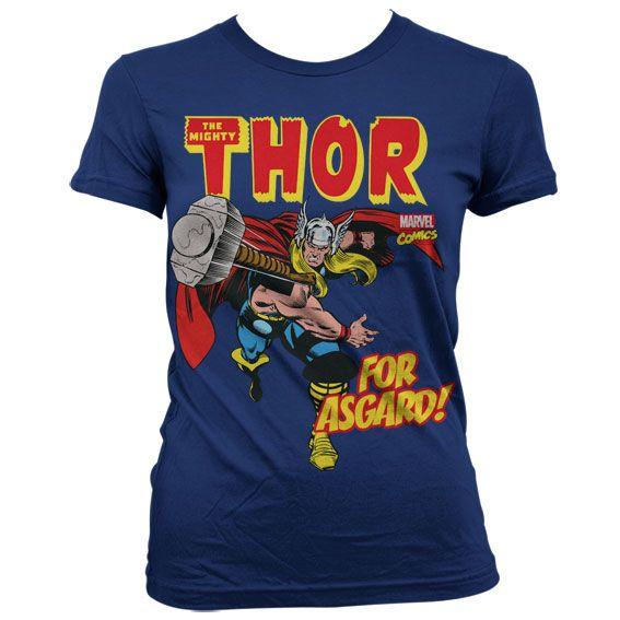 Marvel módní dámské tričko s potiskem The Mighty Thor For Asgard!