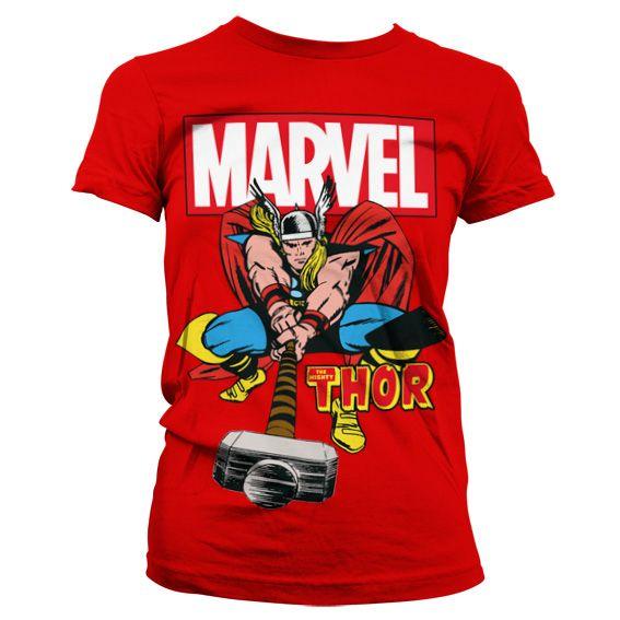 Marvel módní dámské tričko s potiskem The Mighty Thor