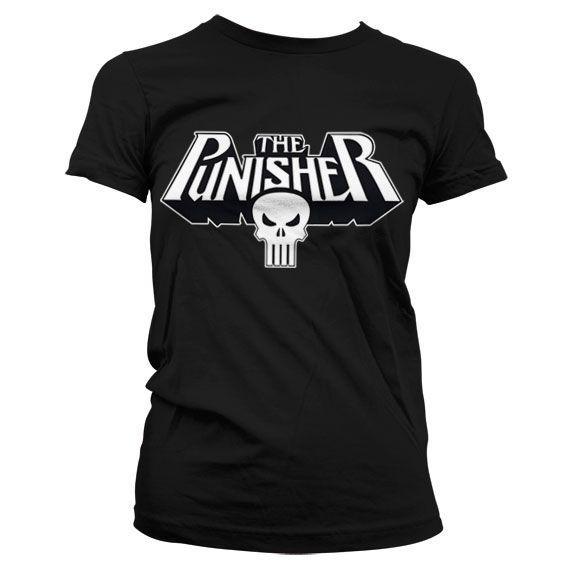 Marvel módní dámské tričko s potiskem The Punisher Logo