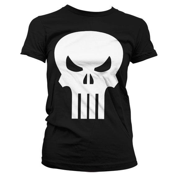 Marvel módní dámské tričko s potiskem The Punisher Skull