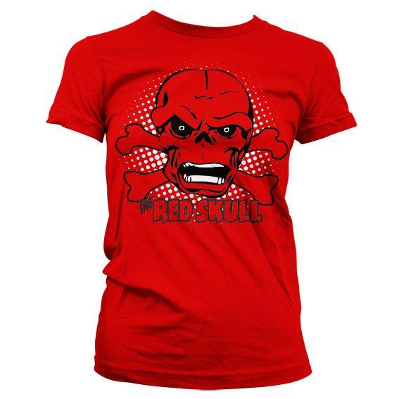 Marvel módní dámské tričko s potiskem The Red Skull