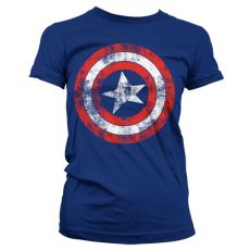 Dámské tričko Captain America Distressed