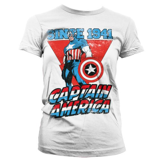 Marvel stylové dámské tričko s potiskem Captain America Since 1941