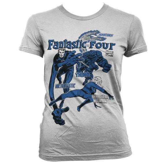 Marvel stylové dámské tričko s potiskem Fantastic Four