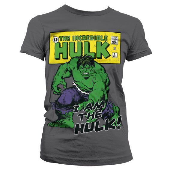 Marvel stylové dámské tričko s potiskem I Am The Hulk