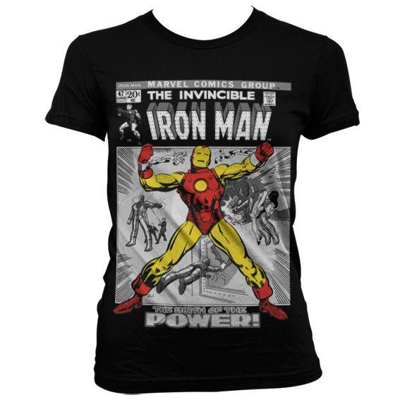 Marvel stylové dámské tričko s potiskem Iron Man Cover
