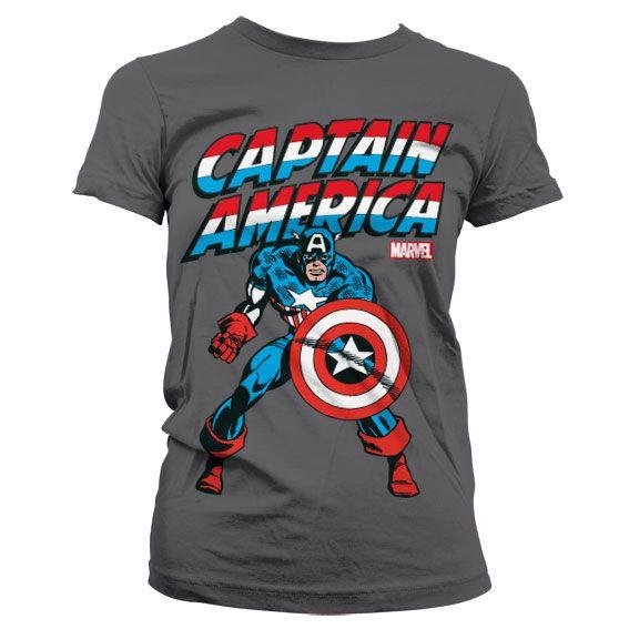 Marvel stylové dámské tričko s potiskem Kapitán Amerika