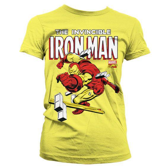 Marvel stylové dámské tričko s potiskem The Invincible Iron Man