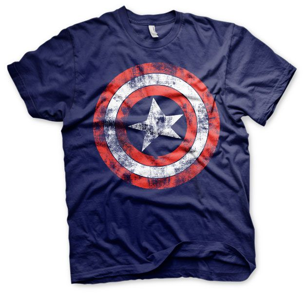 Marvel stylové pánské tričko s potiskem Captain America Distressed