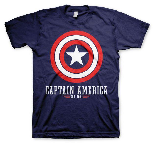 Marvel stylové pánské tričko s potiskem Captain America Logo