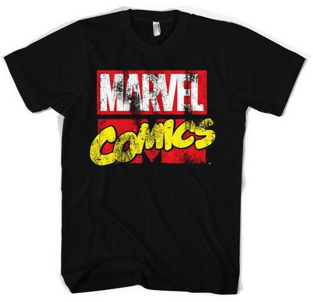 Marvel stylové pánské tričko s potiskem Comics Retro Logo 97b98ce702
