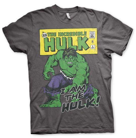 Marvel stylové pánské tričko s potiskem Distressed I Am The Hulk