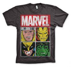 Stylové pánské tričko Marvel Distressed Characters