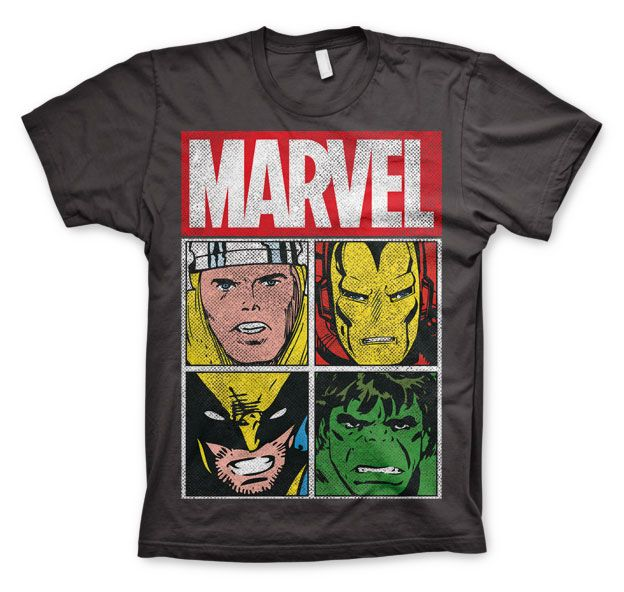 Marvel stylové pánské tričko s potiskem Distressed Characters
