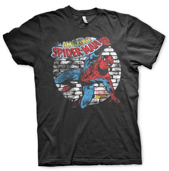 Marvel stylové pánské tričko s potiskem Distressed Spider-Man