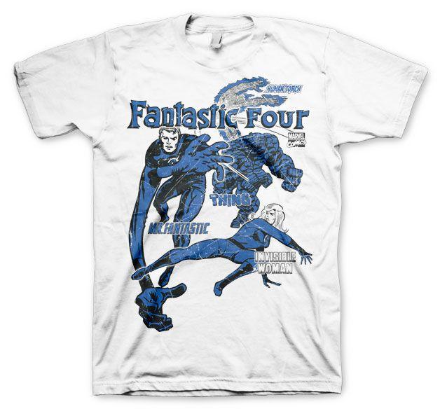 Marvel stylové pánské tričko s potiskem Fantastic Four