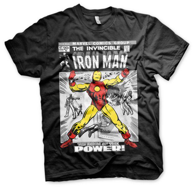 Marvel stylové pánské tričko s potiskem Iron Man Cover