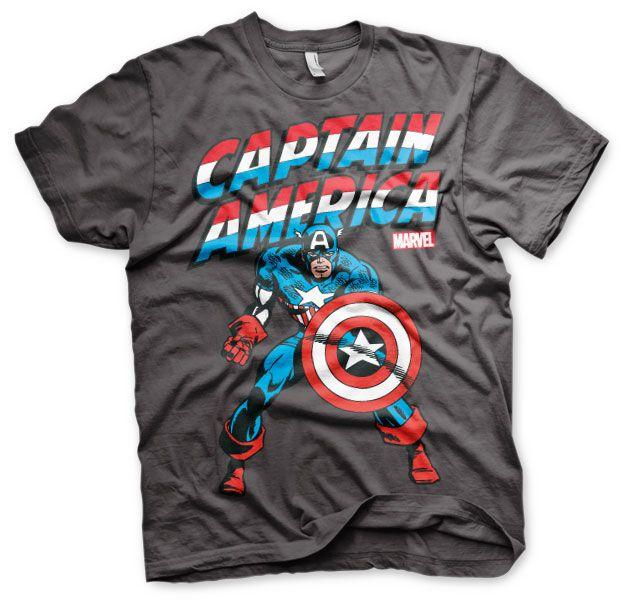 Marvel stylové pánské tričko s potiskem Kapitán Amerika