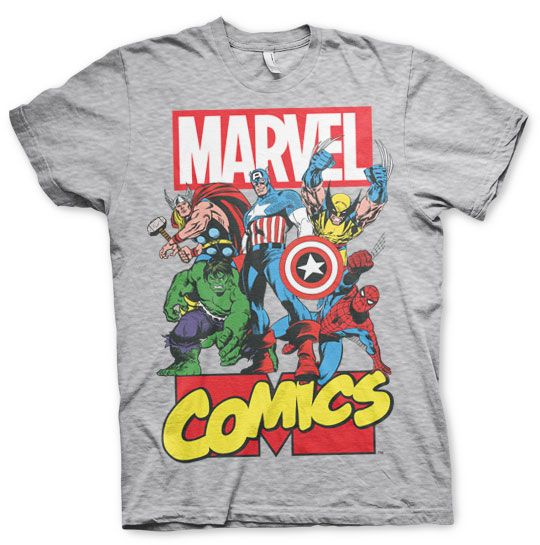 Marvel stylové pánské tričko s potiskem Marvel Comics Heroes 40ef967aa1