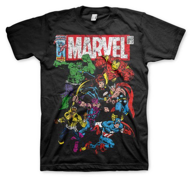 Marvel stylové pánské tričko s potiskem Team-Up