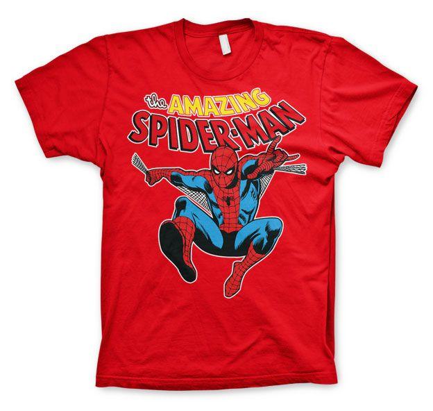 Marvel stylové pánské tričko s potiskem The Amazing Spiderman