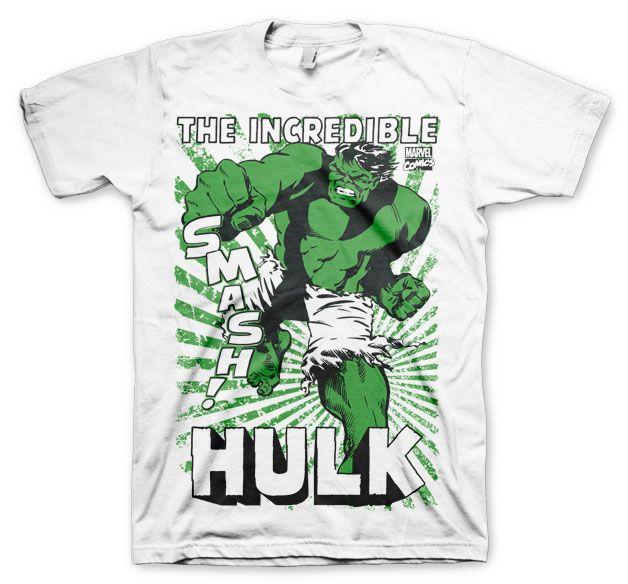 Marvel stylové pánské tričko s potiskem The Hulk Smash