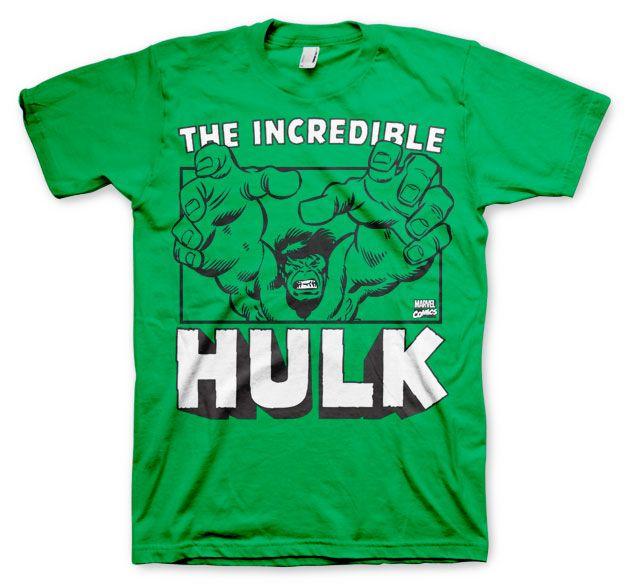 Marvel stylové pánské tričko s potiskem The Incredible Hulk