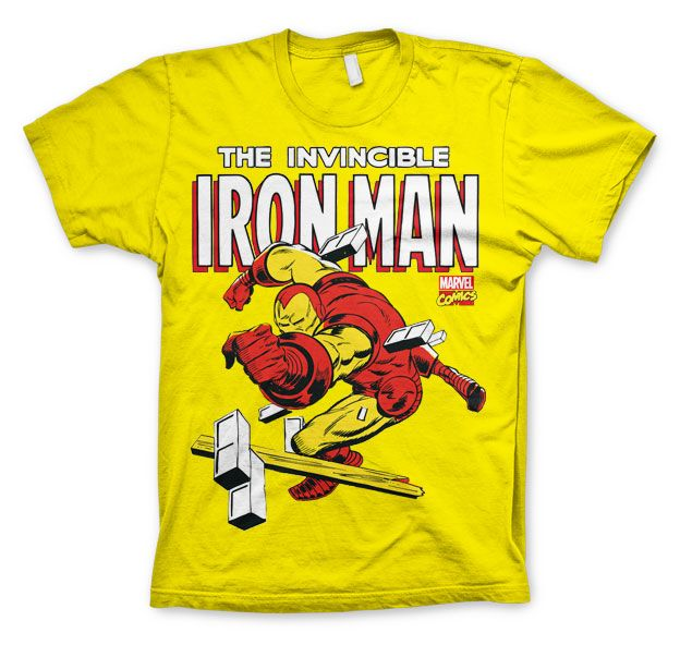 Marvel stylové pánské tričko s potiskem The Invincible Iron Man