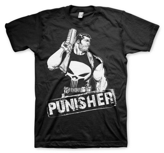 Marvel stylové pánské tričko s potiskem The Punisher Character