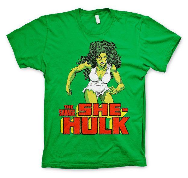 Marvel stylové pánské tričko s potiskem The Savage She-Hulk