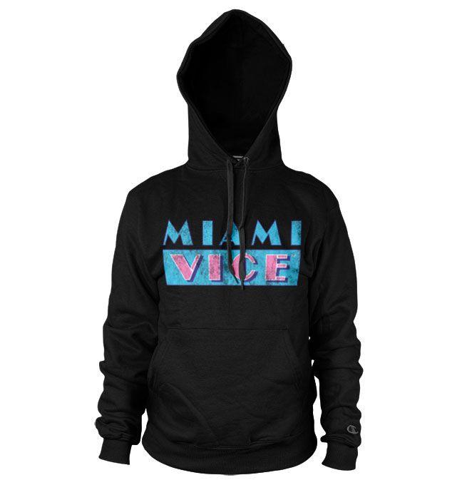 Miami Vice hoodie mikina s kapucí a potiskem Miami Vice Distressed Logo
