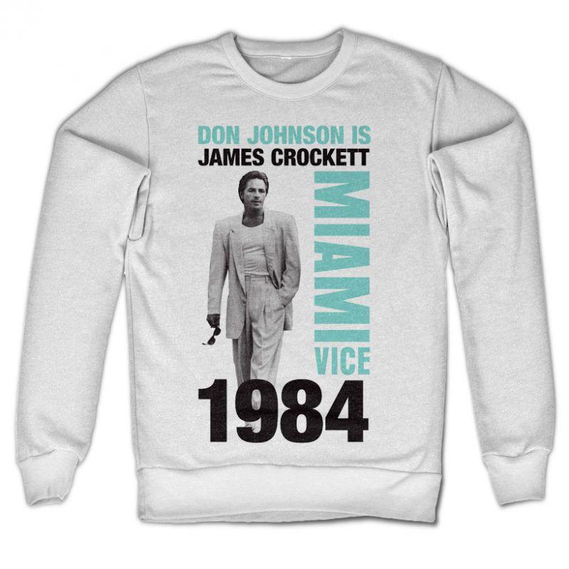 Miami Vice originální mikina s potiskem Don Johnson is Crockett