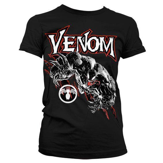 Módní tričko Marvel , dámské triko s potiskem Venom