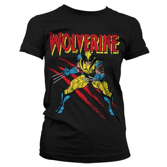 Módní tričko Marvel , dámské triko s potiskem Wolverine Scratches
