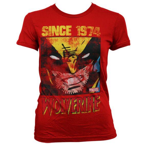 Módní tričko Marvel , dámské triko s potiskem Wolverine Since 1974