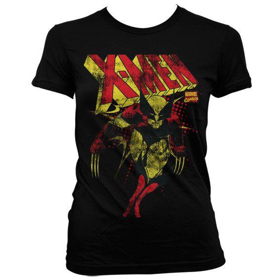 Módní tričko Marvel , dámské triko s potiskem X-Men Distressed