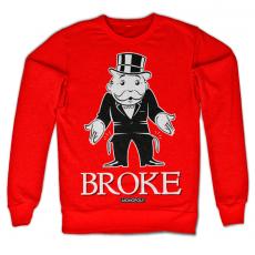 Mikina s potiskem Monopoly Broke