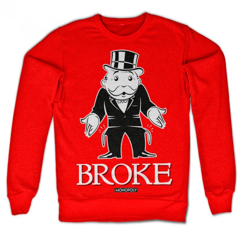 Monopoly originální mikina s potiskem Broke