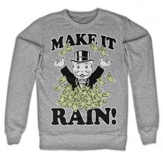 Mikina s potiskem Monopoly Make it Rain