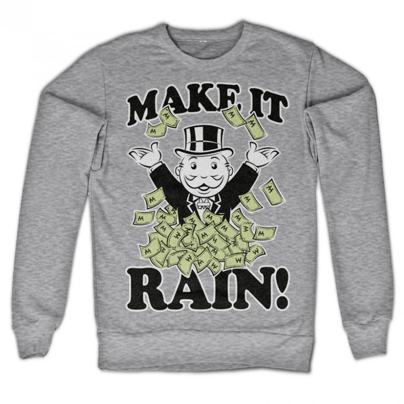 Monopoly originální mikina s potiskem Make it Rain