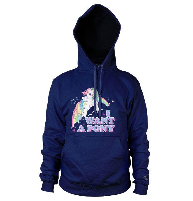 My Little Pony hoodie mikina s kapucí a potiskem I Want A Pony