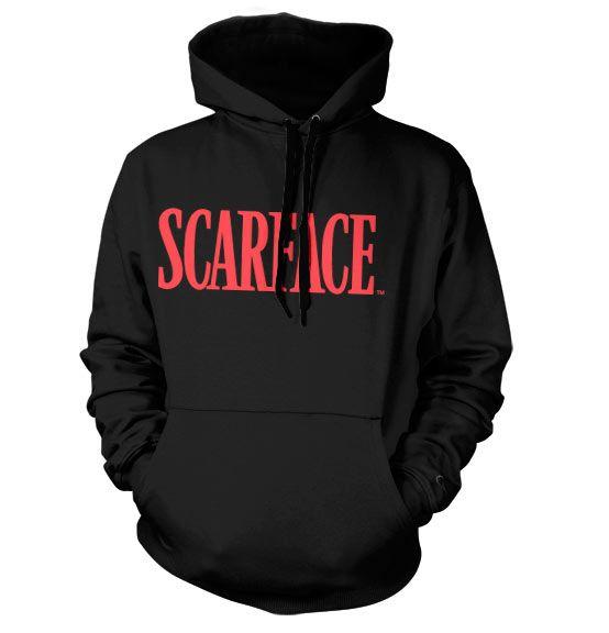 Scarface stylová hoodie mikina s kapucí a potiskem Scarface Logo