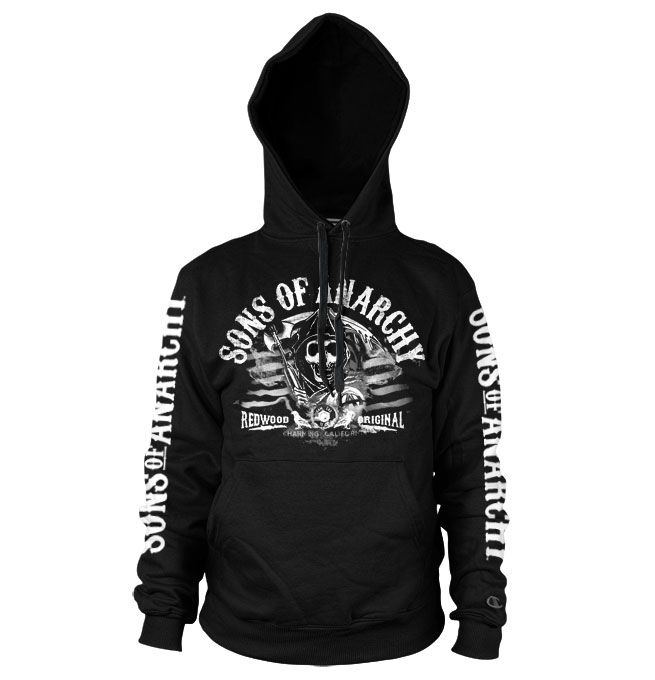 Sons of Anarchy hoodie mikina s potiskem Distressed Flag, mikina s kapucí