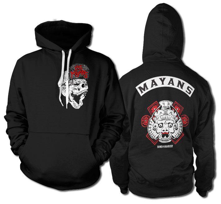 Sons of Anarchy hoodie mikina s potiskem Los Mayans , mikina s kapucí