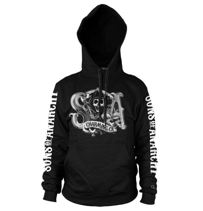 Sons of Anarchy hoodie mikina s potiskem SOA Charming Reaper , mikina s kapucí