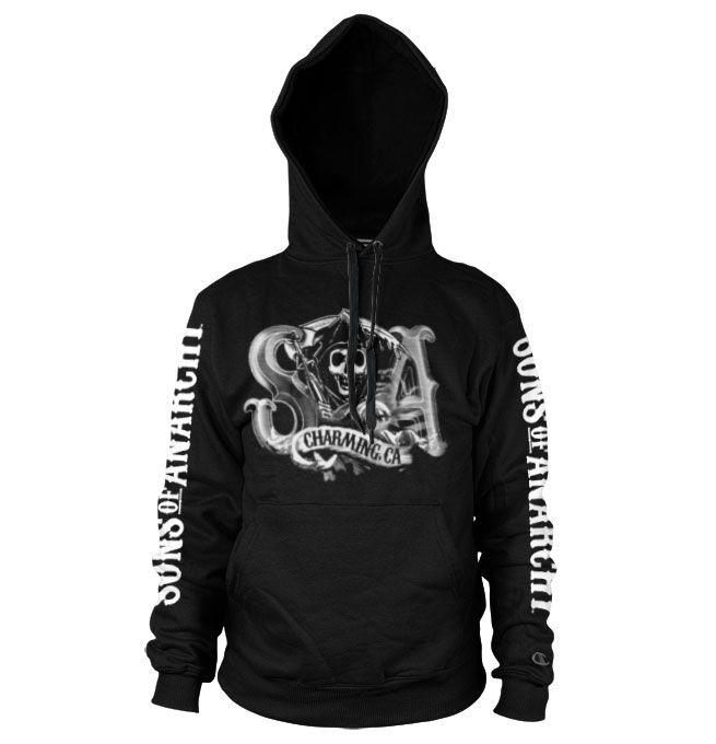 Sons of Anarchy hoodie mikina s potiskem SOA Charming Reaper , mikina s kapucí