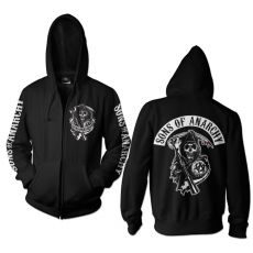 Sons of Anarchy mikina s kapucí a zipem Backpatch