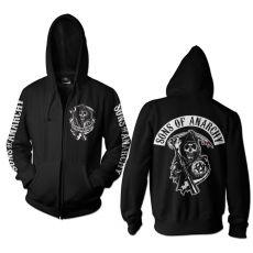 Sons of Anarchy mikina s kapucí a zipem Backpatch