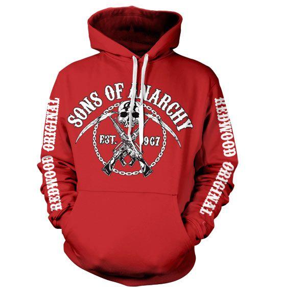 Sons of Anarchy stylová hoodie mikina s kapucí a potiskem Chain Logo