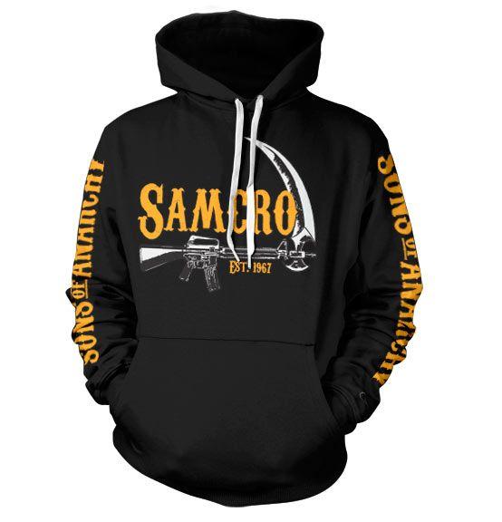 Sons of Anarchy stylová hoodie mikina s kapucí a potiskem SAMCRO Est. 1967
